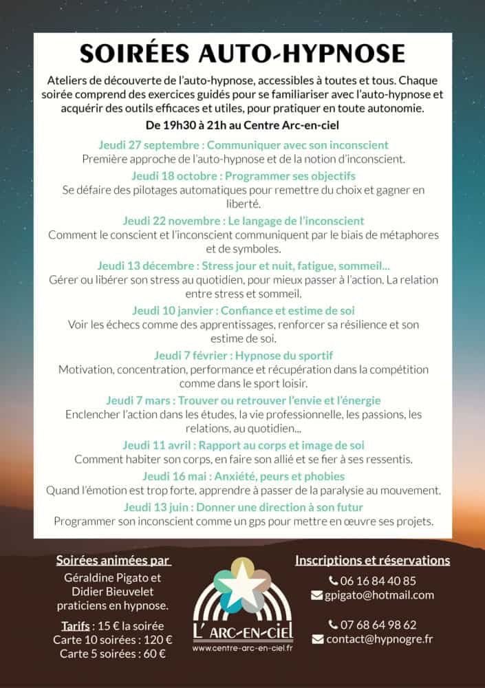 Auto-hypnose Grenoble